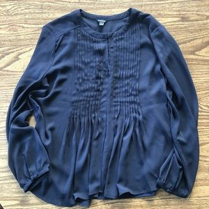 Ann Taylor Deep Blue Blouse